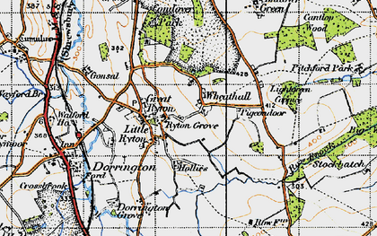 Old map of Lightgreen Coppice in 1947
