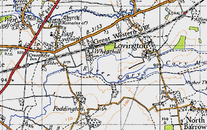 Old map of Wheathill in 1945