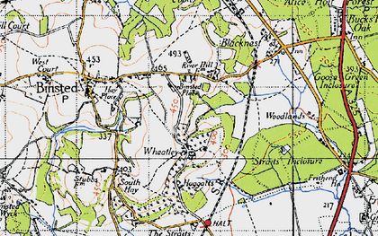 Old map of Wheatley in 1940