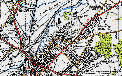 Old map of Wheatley in 1947