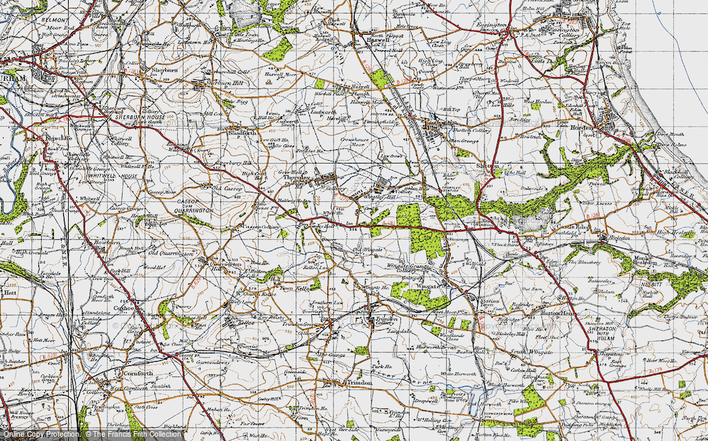 Old Map of Wheatley Hill, 1947 in 1947