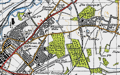 Old map of Wheatley Hills in 1947