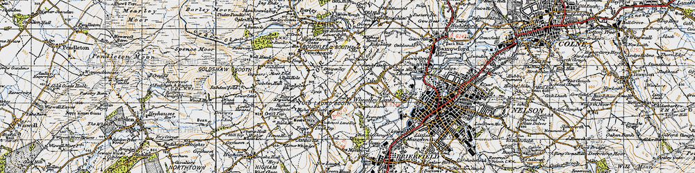 Old map of Wheatley Lane in 1947
