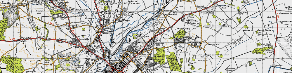 Old map of Wheatley Park in 1947