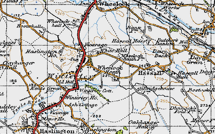Old map of Wheelock Heath in 1947
