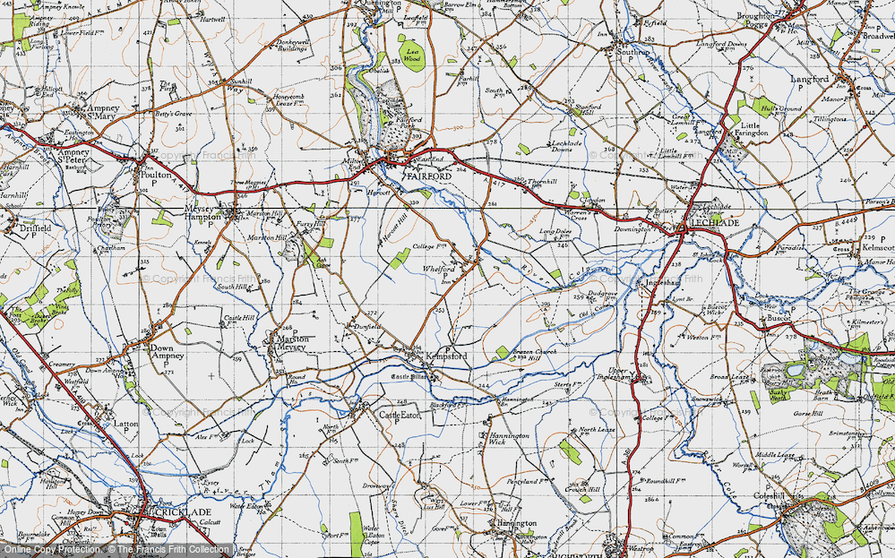 Old Map of Whelford, 1947 in 1947