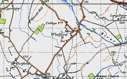 Old map of Whelford in 1947