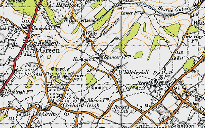 Old map of Ashlyn's Hall in 1946