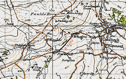 Old map of Whelpo in 1947