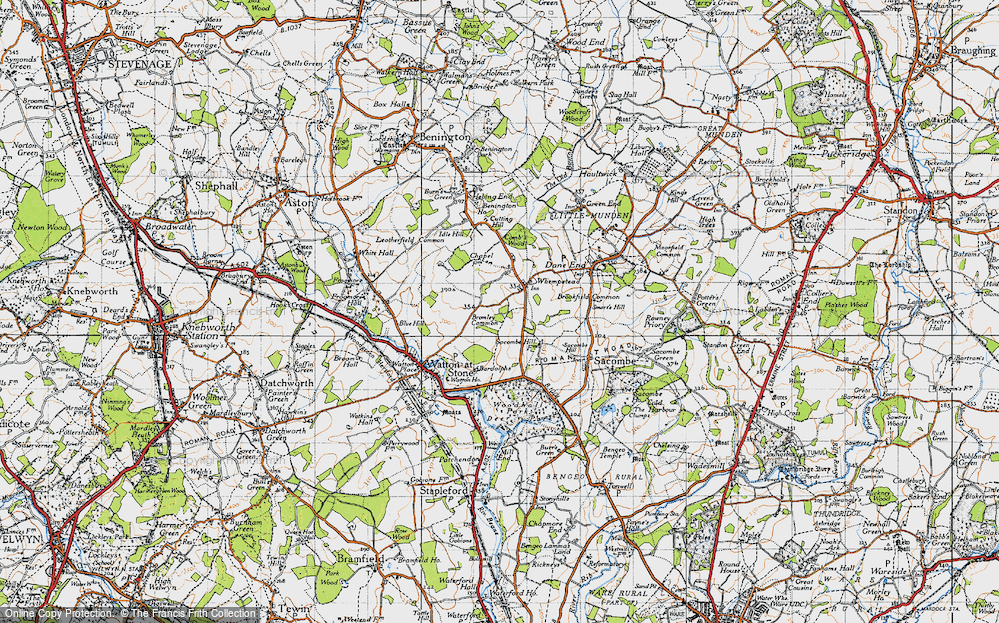 Old Map of Whempstead, 1946 in 1946