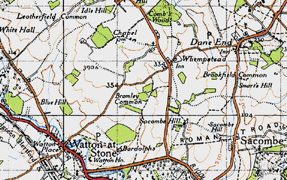 Old map of Bardolphs in 1946