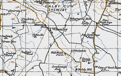 Old map of Whenby in 1947