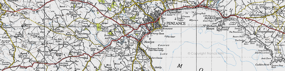 Old map of Wherry Town in 1946