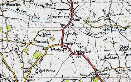 Old map of Baker's Mill in 1945