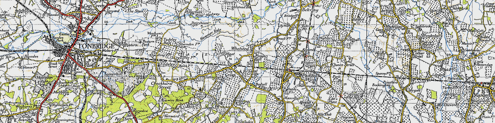 Old map of Whetsted in 1946