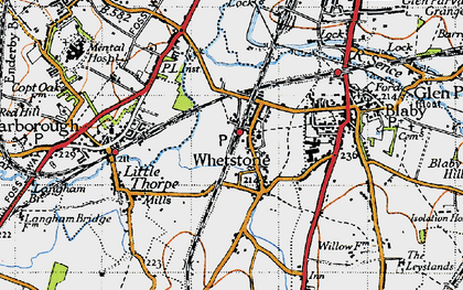 Old map of Whetstone in 1946