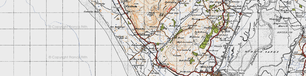Old map of Whicham in 1947