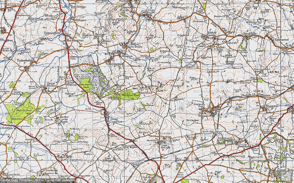 Old Map of Whichford, 1946 in 1946
