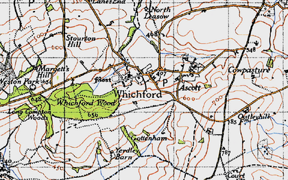 Old map of Whichford in 1946