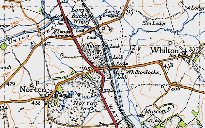 Old map of Whilton Lodge in 1946