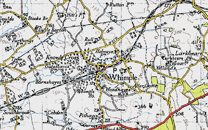 Old map of Whimple in 1946