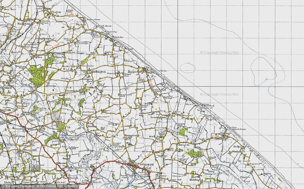 Old Map of Whimpwell Green, 1945 in 1945