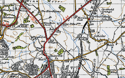 Old map of Whinmoor in 1947