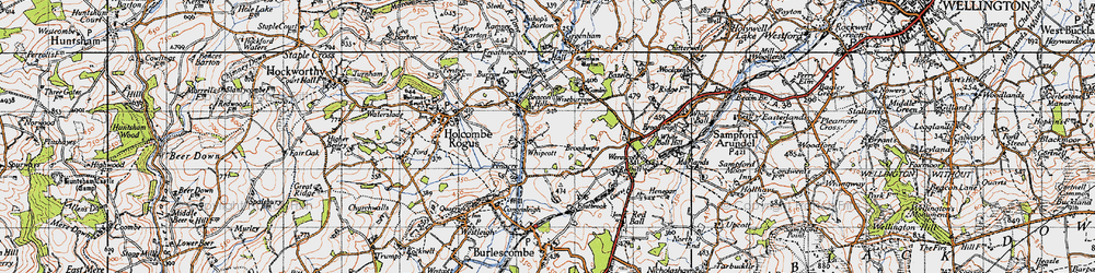 Old map of Whipcott in 1946