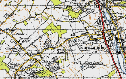 Old map of Whippendell Bottom in 1946