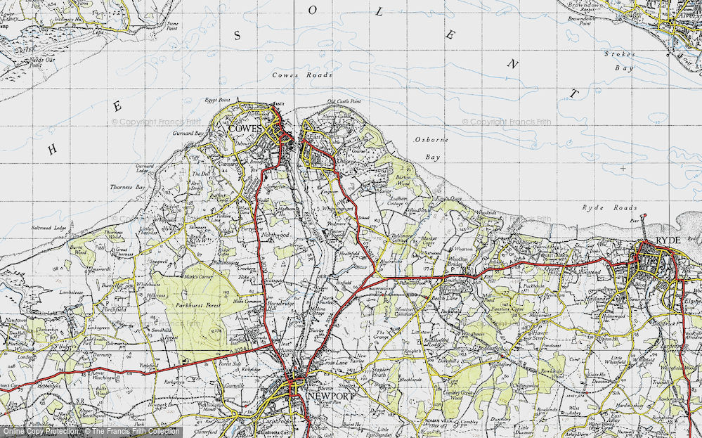 Old Map of Whippingham, 1945 in 1945