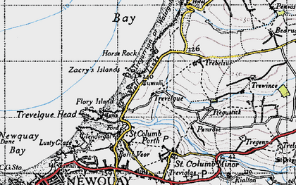 Old map of Whipsiderry in 1946
