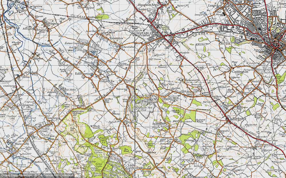 Old Map of Whipsnade, 1946 in 1946