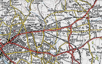 Old map of Whipton in 1946