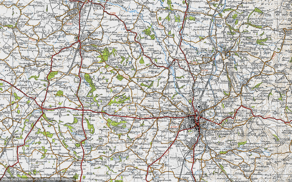 Old Map of Whirley Grove, 1947 in 1947