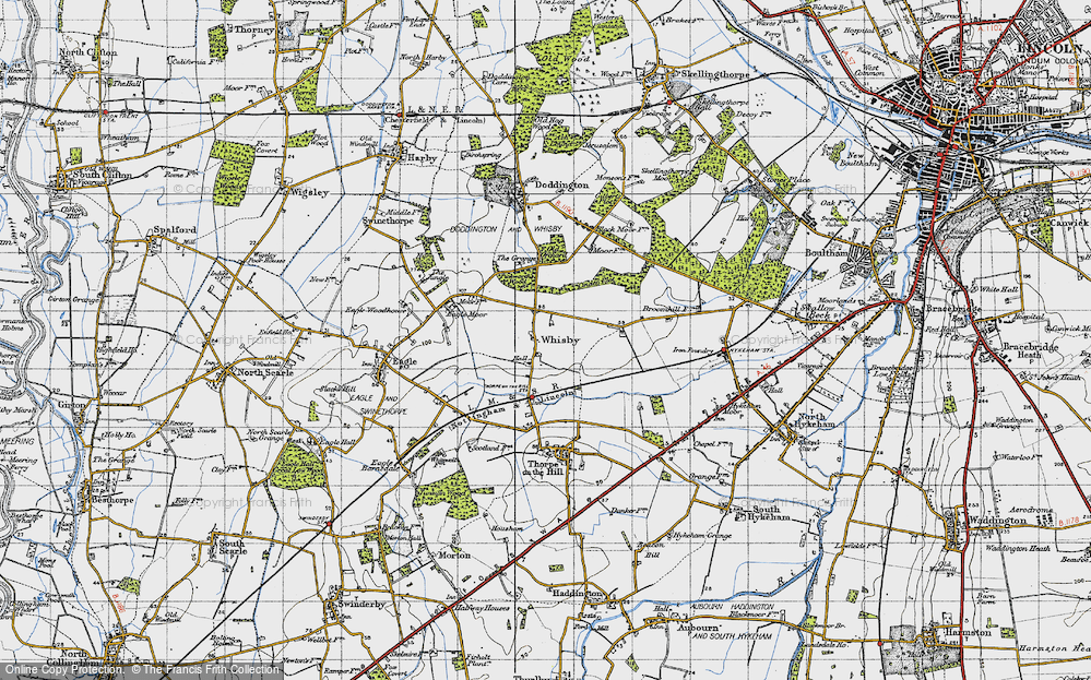 Old Map of Whisby, 1947 in 1947