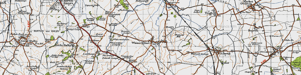 Old map of Wright's Lodge in 1946