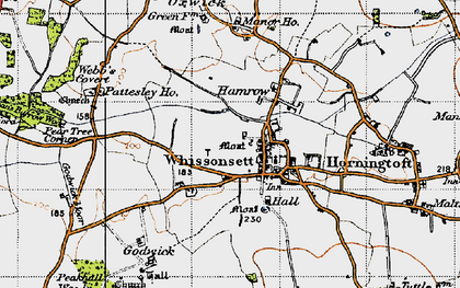 Old map of Whissonsett in 1946