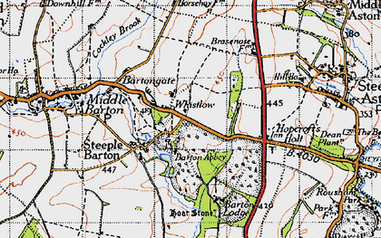 Old map of Whistlow in 1946