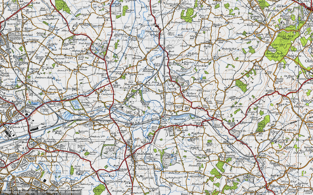 Old Map of Whitacre Heath, 1946 in 1946