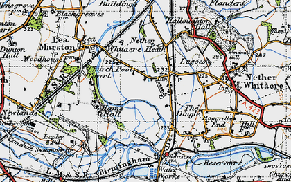 Old map of Whitacre Heath in 1946