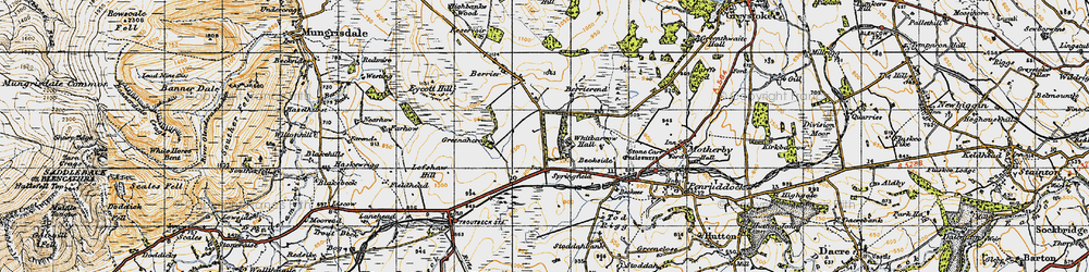 Old map of Whitbarrow Village in 1947