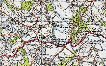 Old map of Whitbourne in 1947