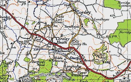 Old map of Whitbourne Moor in 1946