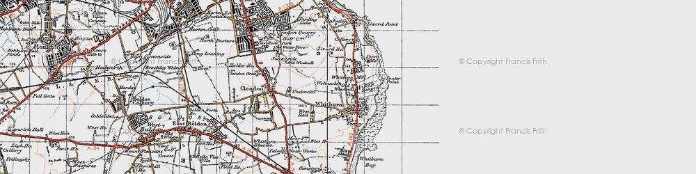 Old map of Whitburn in 1947