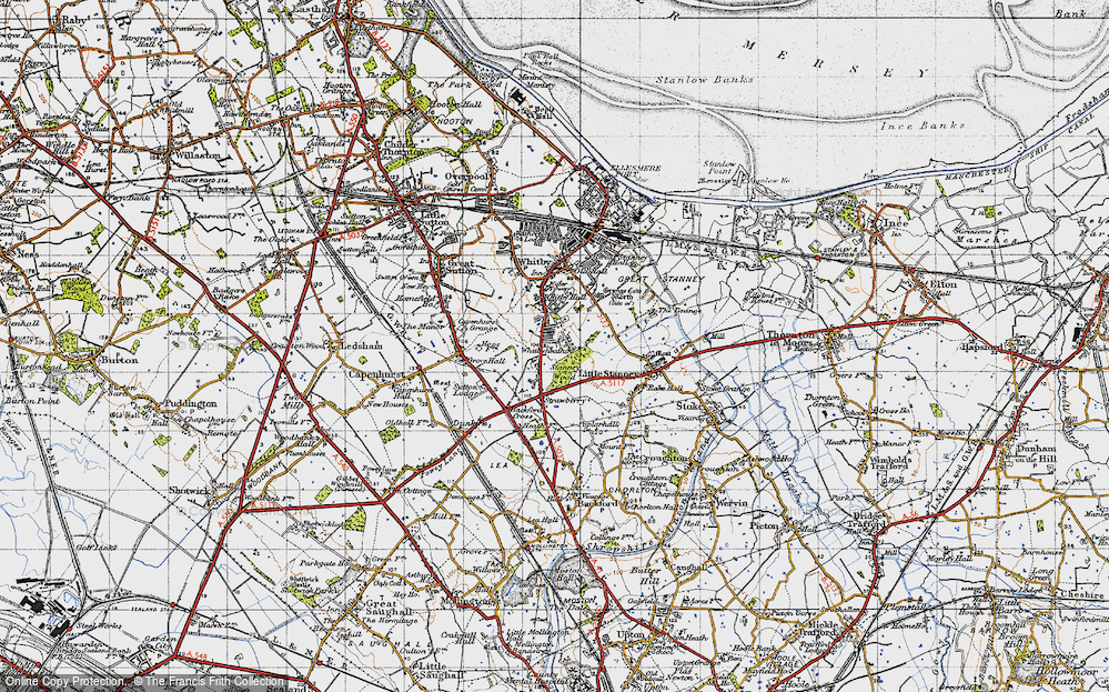 Old Map of Whitbyheath, 1947 in 1947