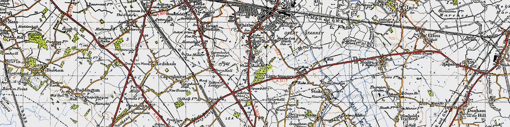 Old map of Whitbyheath in 1947
