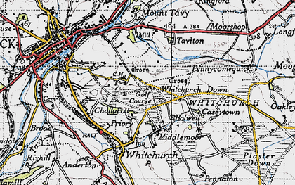 Old map of Whitchurch in 1946