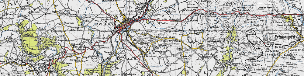 Old map of Whitchurch Down in 1946