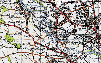 Old map of Whitchurch in 1947