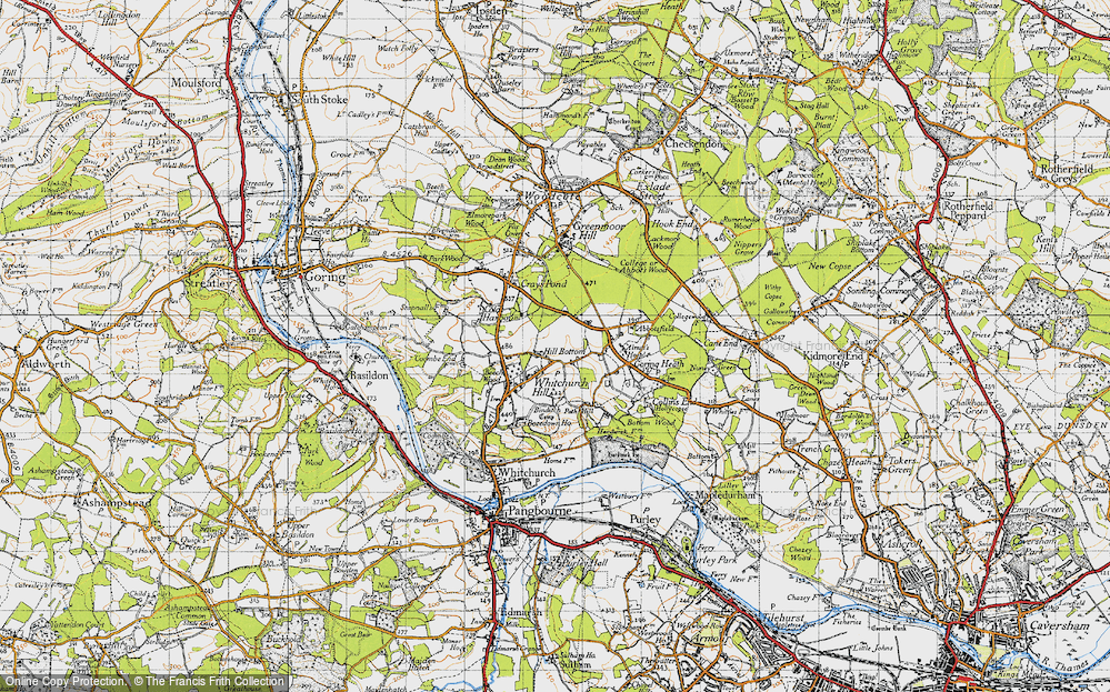 Old Map of Whitchurch Hill, 1947 in 1947